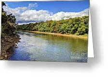 Green River Greeting Card by Joan McCool