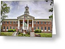 Greeneville Town Hall Greeting Card by Heather Applegate