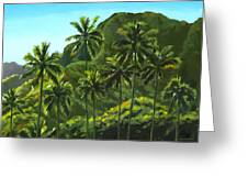 Greens Of Kahana Greeting Card by Douglas Simonson
