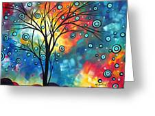 Greeting The Dawn By Madart Greeting Card by Megan Duncanson