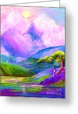 Greeting The Dawn Greeting Card by Jane Small