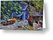 Greshams Mill Greeting Card by Judy Sprague