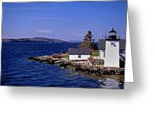 GRINDEL POINT LIGHTHOUSE Greeting Card by Skip Willits