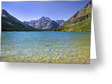 Grinnel Lake Glacier National Park Greeting Card by Rich Franco