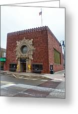Grinnell Iowa - Louis Sullivan - Jewel Box Bank - 03 Greeting Card by Gregory Dyer