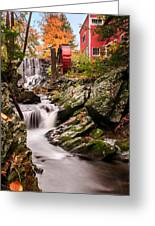 Grist Mill-bridgewater Connecticut Greeting Card by Thomas Schoeller