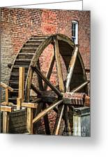 Grist Mill Water Wheel In Hobart Indiana Greeting Card by Paul Velgos