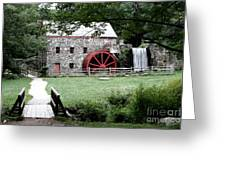 Gristmill Art Greeting Card by Jayne Carney