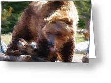 Grizz Greeting Card by Kevin Bone