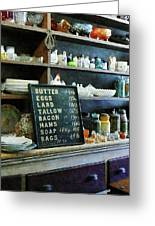 Groceries In General Store Greeting Card by Susan Savad