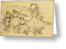 Group Of Dancers Greeting Card by Edgar Degas