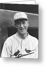 Grover Cleveland Alexander Smiling Outside Dugout Greeting Card by Retro Images Archive