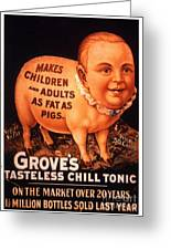 Grove�s 1890s Usa Humour Groves Tonic Greeting Card by The Advertising Archives