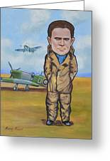 Grp. Capt. Douglas Bader Greeting Card by Murray McLeod