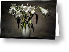 Grunge Lilies Greeting Card by Erik Brede