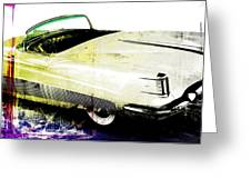 Grunge Retro Car Greeting Card by David Ridley
