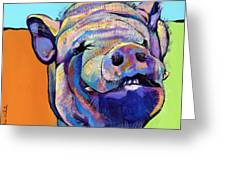 Grunt    Greeting Card by Pat Saunders-White