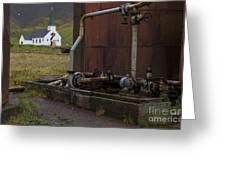 Grytviken, South Georgia Greeting Card by John Shaw