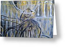Guardian Whisper Greeting Card by Adriana Garces