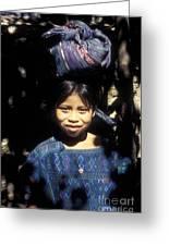 Guatemala Smiling Maya Girl Greeting Card by John  Mitchell