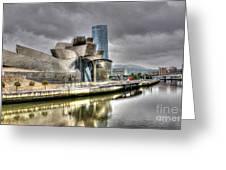 Guggenheim Museum Bilbao Greeting Card by Ines Bolasini