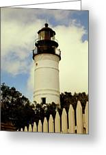 Guiding Light Of Key West Greeting Card by Karen Wiles