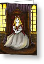 Guinefurre Cat Queen Greeting Card by Tara Fly