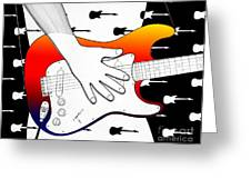 Guitar 1 Greeting Card by Joseph J Stevens