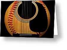 Guitar Baseball Square Greeting Card by Andee Design