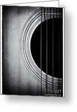 Guitar Film Noir Greeting Card by Natalie Kinnear