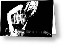 Guitar Girl Greeting Card by Chris Berry