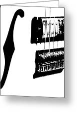 Guitar Graphic In Black And White Greeting Card by Chris Berry