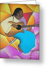 Guitar Player Greeting Card by Sonya Walker