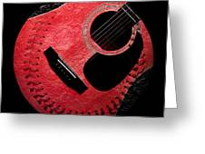 Guitar Strawberry Baseball Greeting Card by Andee Design