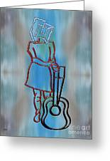 Guitarist Greeting Card by Patrick J Murphy