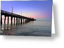 Gulf State Park Pier Greeting Card by Lynn Jordan