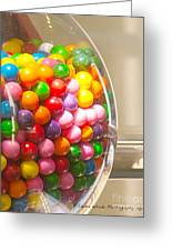Gumball Machine Greeting Card by Artist and Photographer Laura Wrede