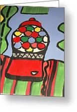 Gumball Machine  Greeting Card by Valerie  Colston