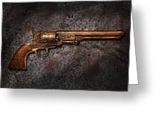 Gun - Colt Model 1851 - 36 Caliber Revolver Greeting Card by Mike Savad