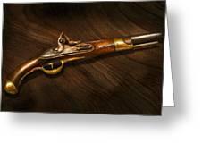 Gun - Pistols at dawn Greeting Card by Mike Savad