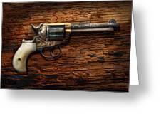 Gun - Police - True Grit Greeting Card by Mike Savad