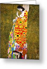 Gustav Klimt - Hope II Greeting Card by Pg Reproductions