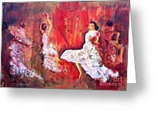 Gypsies In Granada Greeting Card by Jolanta Shiloni