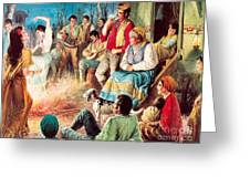 Gypsies Partying Greeting Card by English School