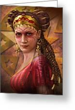 Gypsy Woman Greeting Card by Ciro Marchetti