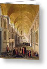 Haghia Sophia, Plate 2 The Narthex Greeting Card by Gaspard Fossati