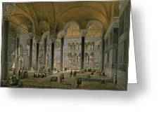 Haghia Sophia, Plate 6 The North Nave Greeting Card by Gaspard Fossati