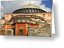 Hagia Sophia Ayasofya Meydani Byzantine Basilica Later Imperial Mosque Istanbul Turkey Greeting Card by Ralph A  Ledergerber-Photography