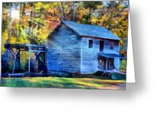 Hagood Mill With Sunrays Greeting Card by Lynne Jenkins