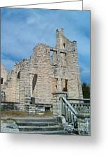 Haha Tonka Castle 2 Greeting Card by Sara  Raber